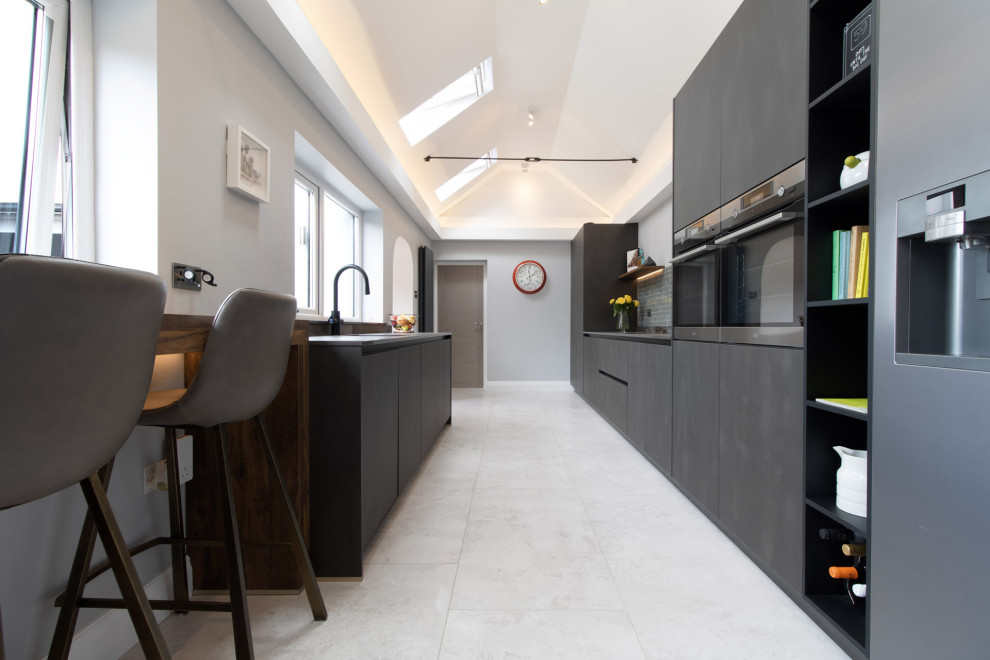 schuller targa steel kitchen project in old st mellons