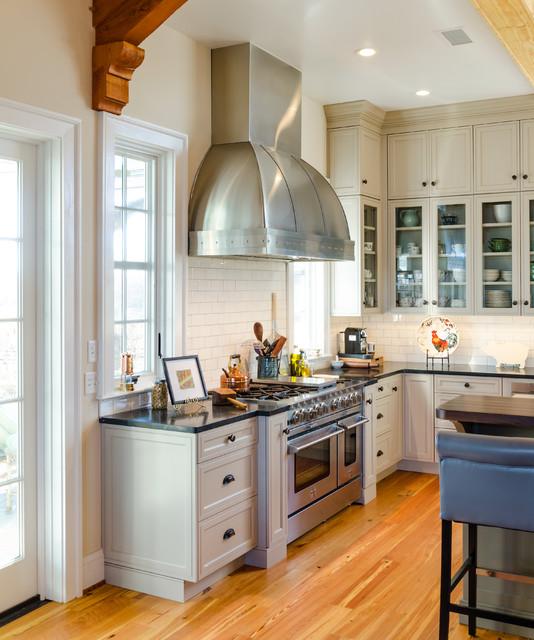 Scottsville Industrial Farmhouse Kitchen - Industrial - Kitchen - Richmond - by Custom Kitchens Inc