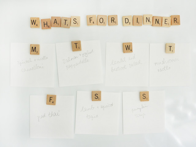 Scrabble tile magnets contemporary kitchen