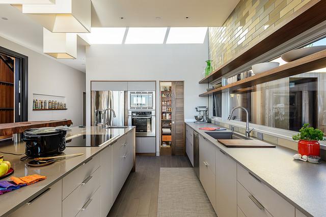 Sea Ranch Residence midcentury-kitchen