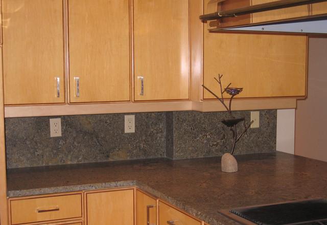 Seafoam Green Granite Transitional Kitchen Portland