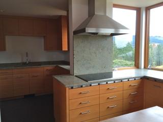 Seafoam Green Granite Kitchen