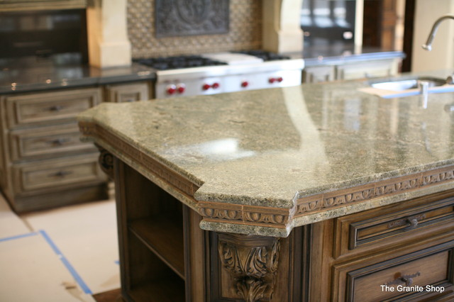 Seafoam Green Granite Kitchen Traditional Kitchen