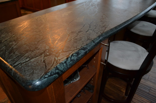 Seal Bay, BC - Silver Soapstone (oiled) contemporary-kitchen