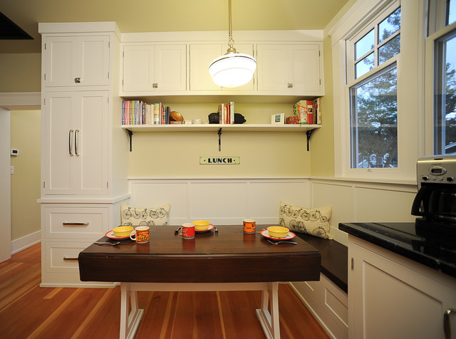 Seating area with drop-leaf table - Traditional - Kitchen - San Francisco - by The Wood Connection