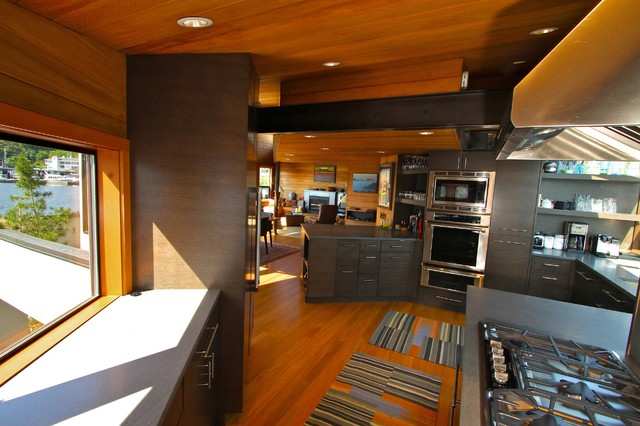 Seattle floating home modern kitchen seattle by ryan rhodes designs inc - Kitchen designers seattle ...