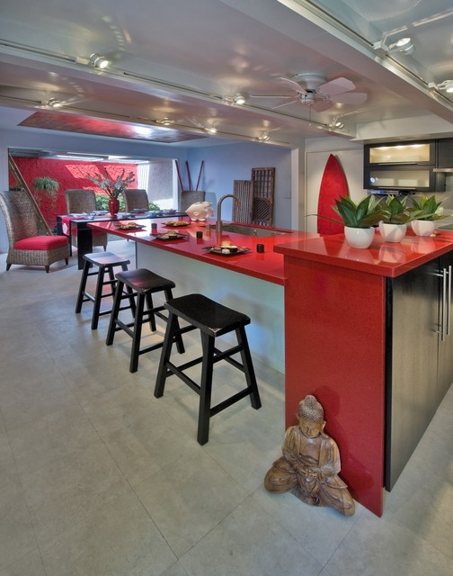 Seeing red contemporary kitchen hawaii by for Archipelago hawaii luxury home designs