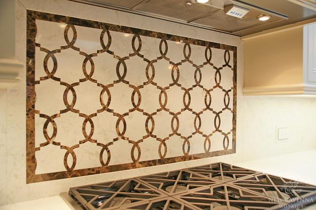 Seine Stone Mosaic contemporary-kitchen