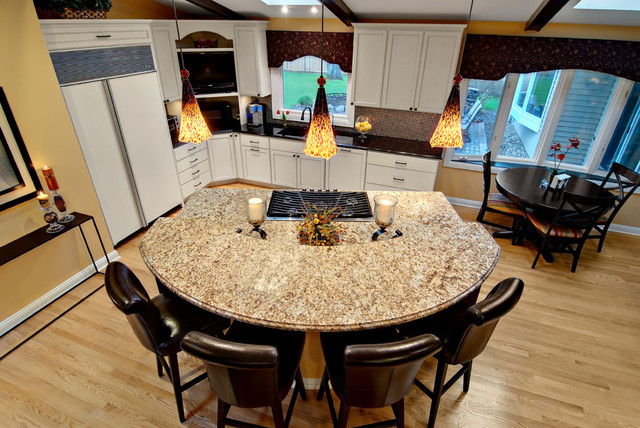 semi circle island kitchen semi circular granite island contemporary kitchen 5130