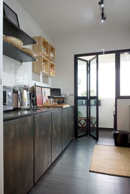 Senja Road 4 Room Bto Industrial Kitchen Singapore By Omus Living