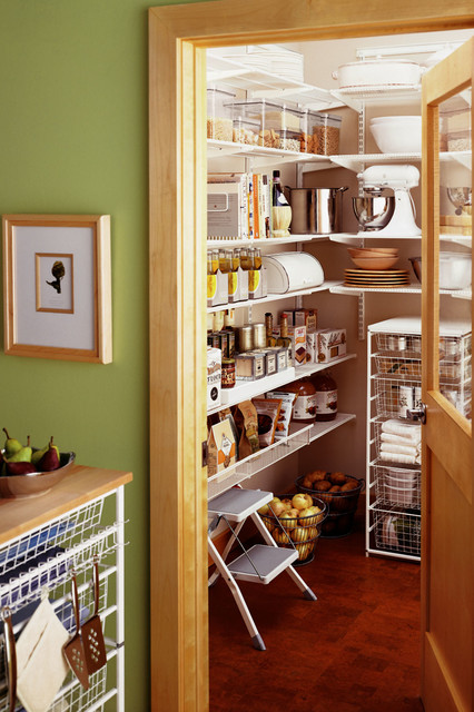 Separate Pantry room transitional-kitchen