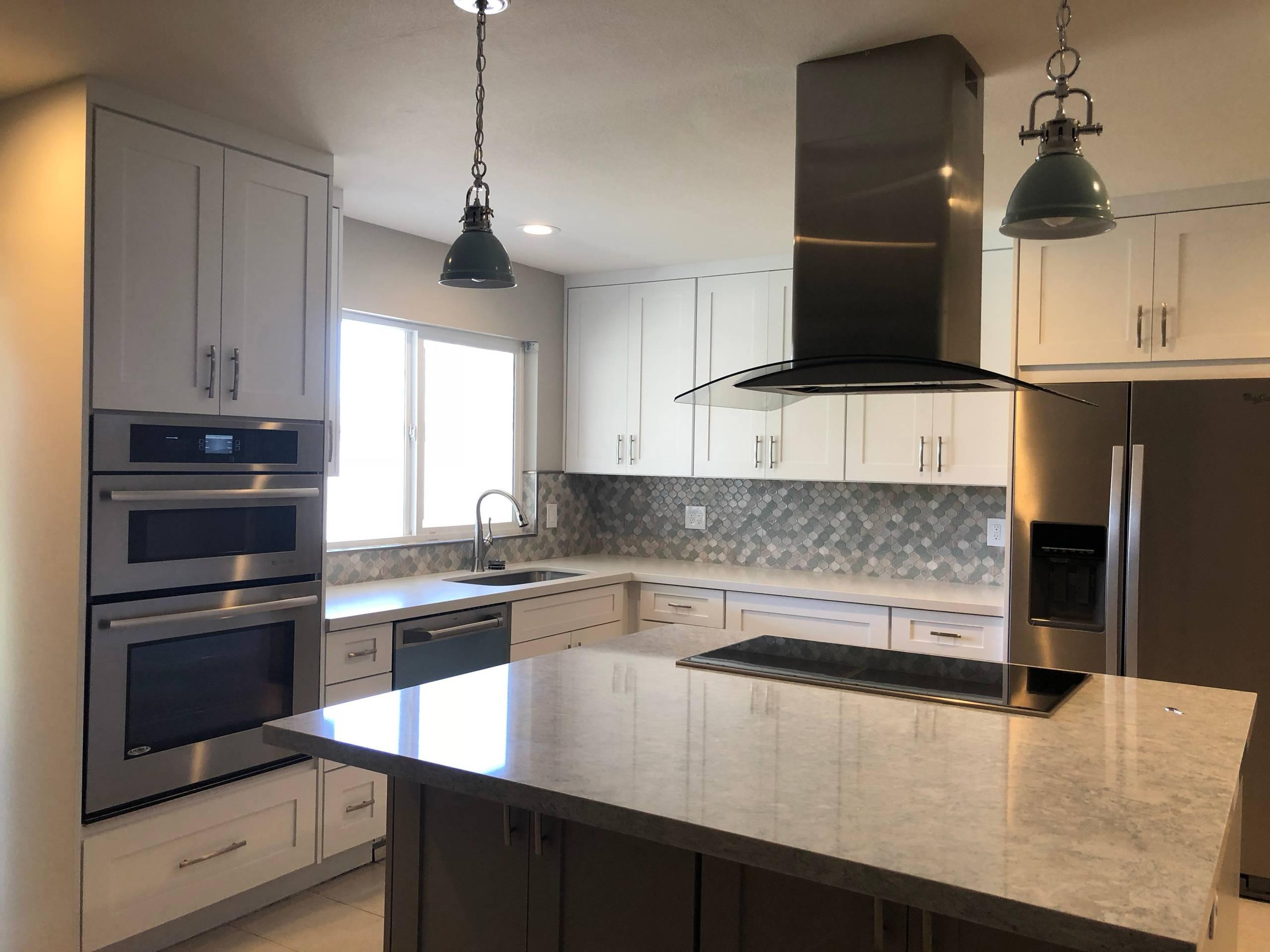 Serene and modern kitchen