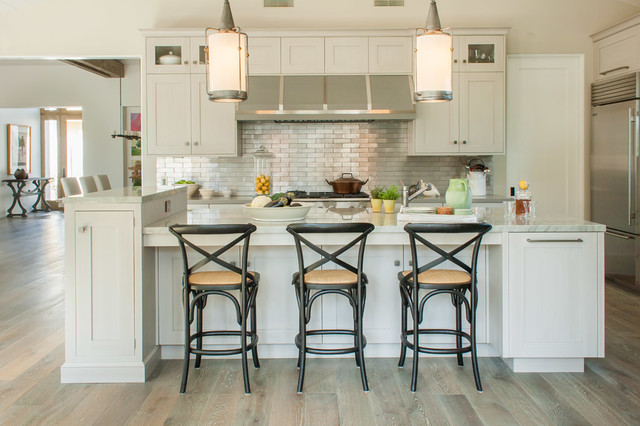 Serene Point Loma Custom Home traditional-kitchen