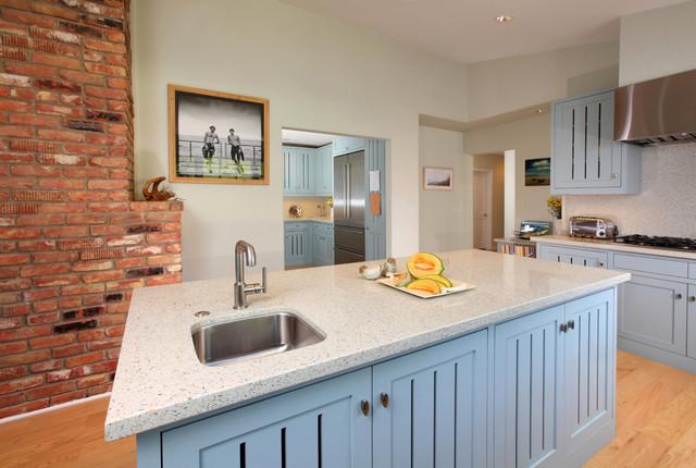 Blue Dream: Pacific Palisades Kitchen transitional-kitchen