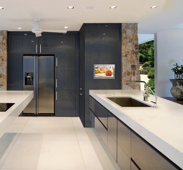 Awesome Séura Stainless Steel Indoor Waterproof Television Contemporary Kitchen