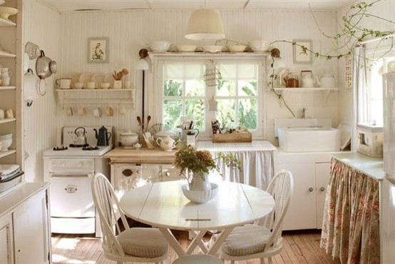 shabby chic kitchen romantique cuisine mexico city par interior decor in mexico city. Black Bedroom Furniture Sets. Home Design Ideas
