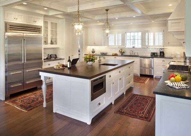 Shades of gray traditional kitchen boston by for Traditional gray kitchen