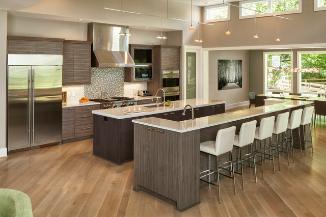 Contemporary Gray Kitchen Cabinets shades of greydon justice cabinet makers - contemporary