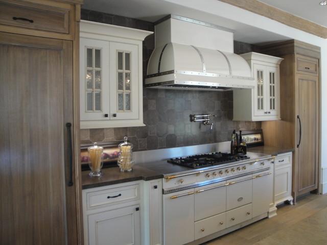 Shady Canyon French Chateau Estate farmhouse-kitchen