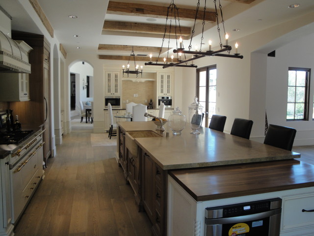 Shady Canyon French Chateau Estate - Farmhouse - Kitchen - Orange ...