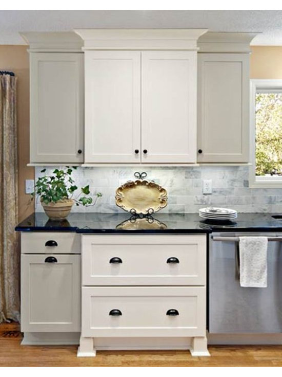 Contemporary Staggered Kitchen Cabinets Home Design Photos Decor