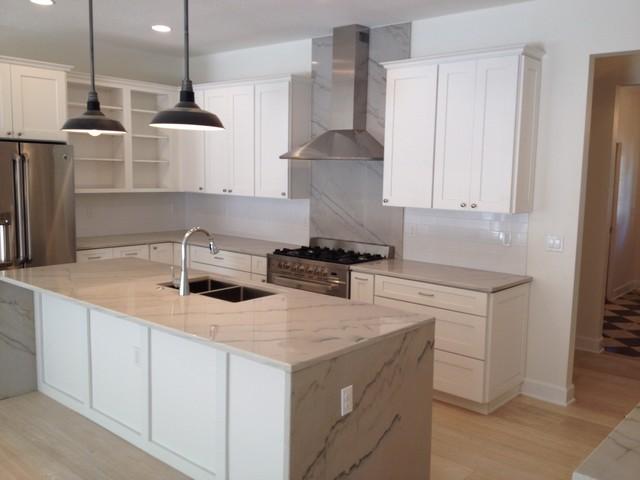 Shaker And Macaubas Quartzite Kitchen Transitional