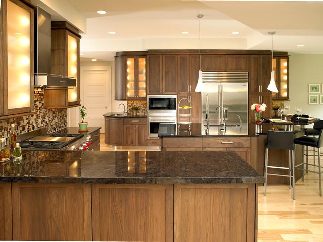 Shaker Black Walnut Kitchen - Traditional - Kitchen ...