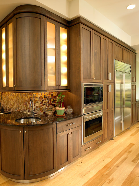 Shaker Black Walnut Kitchen Traditional Kitchen Other Metro By Kathryn W Brown
