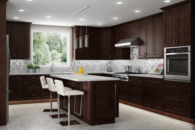 Shaker Espresso Kitchen Cabinets - Kitchen - by Bliss Cabinets