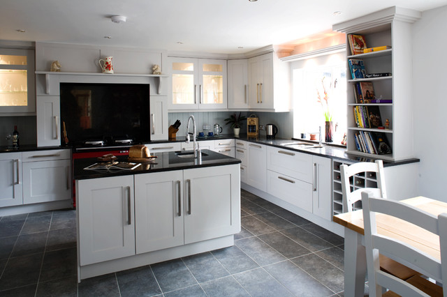Shaker Grey transitional-kitchen