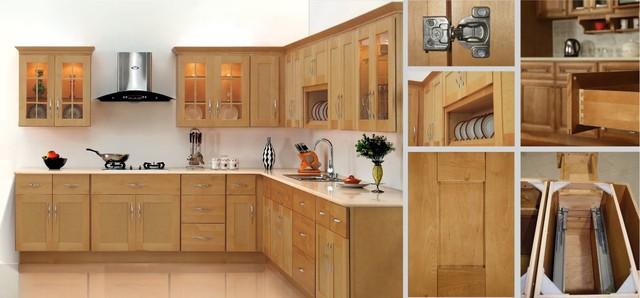 Shaker Honey Style Kitchen Cabinets - Modern - Kitchen - miami - by Discount Casa