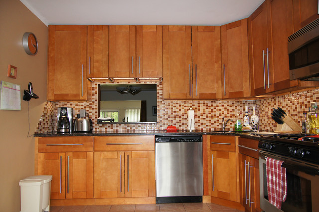 shaker kitchen cabinets autumn finish traditional