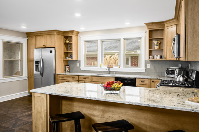 Shaker Maple cabinetry with Sienna Beige Granite top arts and crafts