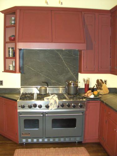 Shaker Red Kitchen traditional-kitchen