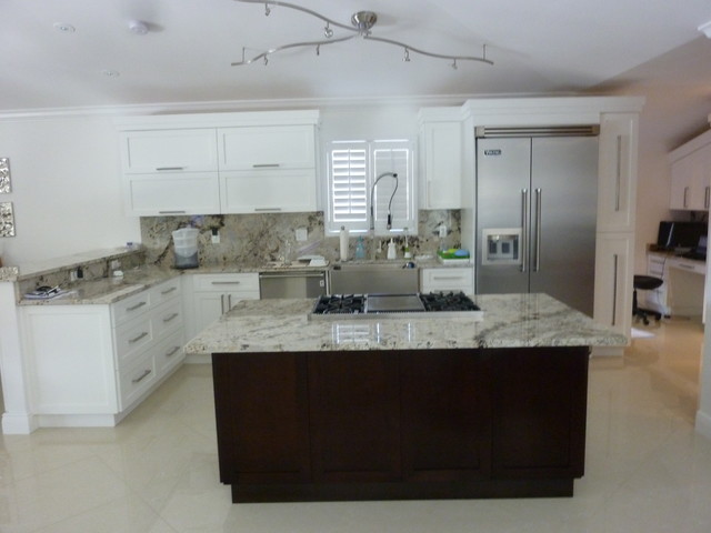 Shaker Style Cabinetry - Contemporary - Kitchen - Miami - by Visions