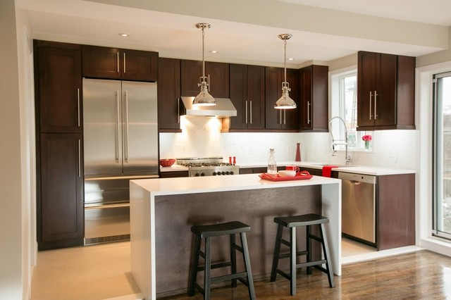 Shaker style kitchen cabinet contemporary kitchen for New york style kitchen