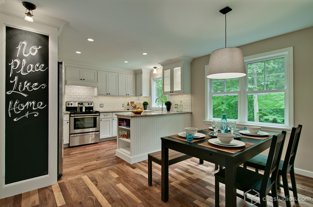 Shaker update for a connecticut kitchen contemporary for Modern kitchen updates