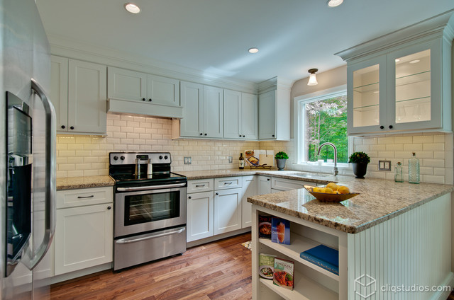 Shaker Update for A Connecticut Kitchen - Contemporary - Kitchen - other metro - by CliqStudios ...