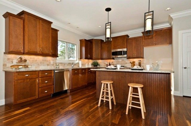shaker walnut cabinets contemporary kitchen other
