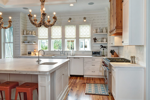 shiplap wall kitchen. i like how this kitchen combined a curvilinear shape with their shiplap. while i\u0027m little afraid about it being too trendy and also the shiplap wall f