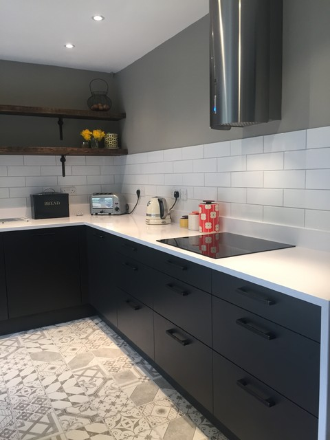 Sharp Clever Mix With A Splash Of Yellow Eclectic Kitchen Other By In Toto Kitchens Bristol