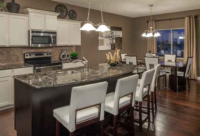 Shelby Model Home Contemporary Kitchen Omaha – Model Home Kitchens