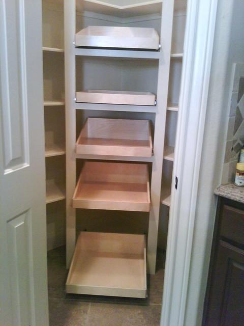 Shelfgenie glide out shelves traditional kitchen for Traditional kitchen shelves