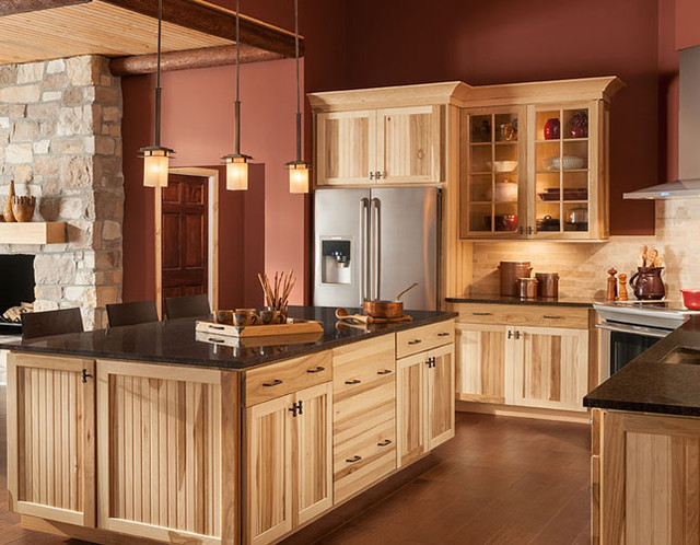 lowes hickory kitchen cabinets shenandoah cabinetry farmhouse kitchen seattle by 7215