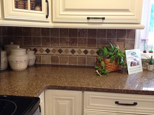 Shenandoah mckinley maple cream glaze traditional kitchen