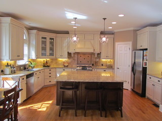 New Venetian Gold Granite With White Cabinets Image Cabinets And