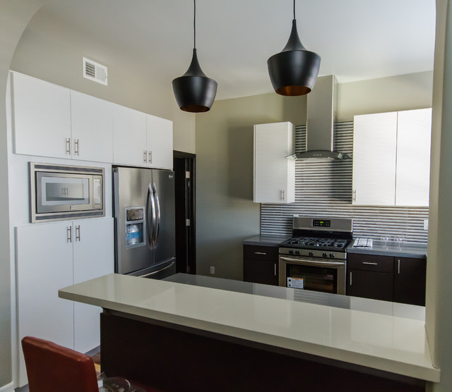 Sherman Oaks Condo Modern Kitchen Los Angeles By Style My Space Interior Design And Staging