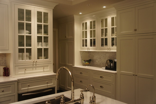 Shiloh Beaded Inset Kitchen by Kas White - Traditional ...