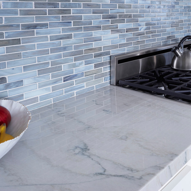 Shimmer Glass Kitchen Los Angeles By Arizona Tile