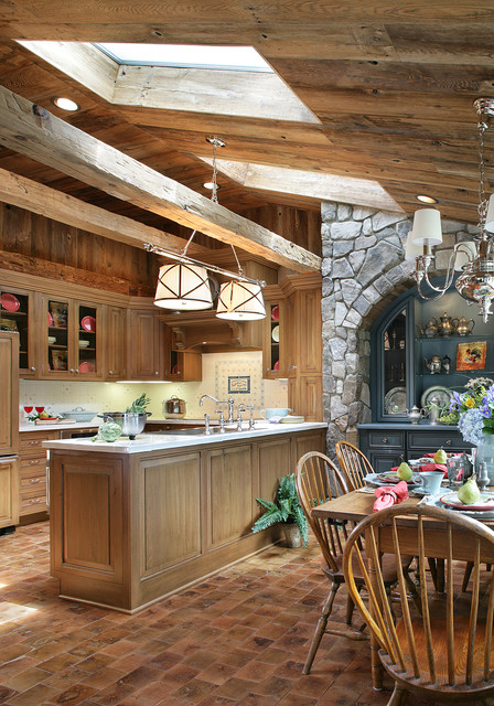 Shingle Style Home Rustic Kitchen Boston By Kenneth Davis Lux International